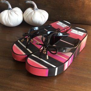 Kate Spade Platform Bow Sandals Size 7